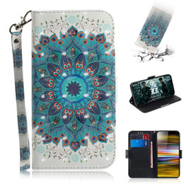 3d Cases Sony Xperia Australia - Flip Cover Wallet Stand For Sony Xperia 10 Plus Case 3D Painting PU Leather Soft Silicon Covers Mobile Phone Bags