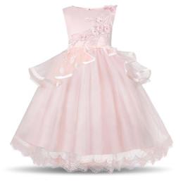 $enCountryForm.capitalKeyWord Australia - Summer Kids Wedding Party Dresses For Girls Solid Sleeveless Tutu Birthday Prom Princess Costume Girl Dress Children Clothes 10T