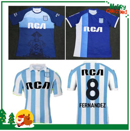 18 19 Argentina Racing Club de Avellaneda jersey 2018 2019 Bou 7 Fernández 8  Centurión 10 football shirts top quali 72808f165