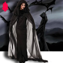 women s fancy dress Australia - Luxury Halloween Cosplay Uniform For Women Dresses Fancy Designer Halloween Costum Women Horror God of Death Robes Size S-2XL
