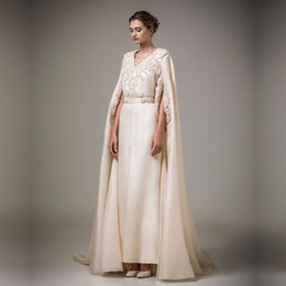 long kaftan dresses robe Canada - Muslim Long Arabic Kaftan Turkish Evening Women Formal gown with Pearls Coat Robe de Soiree Cheap mother of the bride dresses