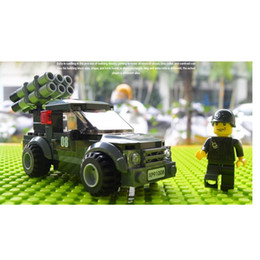 Chinese  Free Shipping---Building Blocks Military Vehicles Car Children's Toys Boys 10-12 Years Old 1 PCS manufacturers