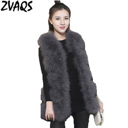 cd200c8a0a3 2018 Winter Real Ostrich Feather Fur Vest Female Medium Long Slim Sleeve  off Fur Coat Thick Warm Natural Turkey Wool Vests ST014