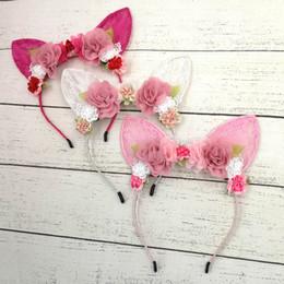 $enCountryForm.capitalKeyWord Canada - Lace kids Hair Sticks 3D flower baby headbands girls designer headband party designer headbands hair accessories for girls head bands A5788
