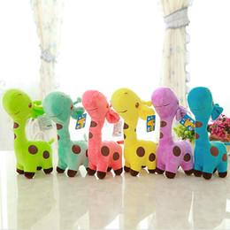 $enCountryForm.capitalKeyWord Australia - Colorful giraffe dolls colorful plum blossom fawn plush toy manufacturers wholesale custom wedding gifts cute and practical