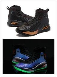 Curry 4 Shoes NZ - New HOT Stephen Curry 4 Gaobang FUNWU shoes black and  white 4eedaa0aa