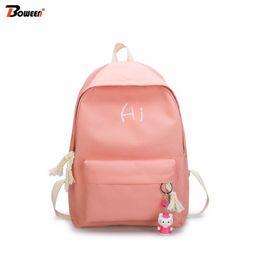 e5032b107dfe Cute Backpacks For High School Girls Australia - canvas women backpack  school bags for girl pink