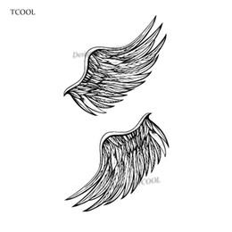 c41f1635a TCOOL Wing Temporary Tattoos Sticker Waterproof Women Men Fashion Fake Arm  Body Art 10.5X6cm Kids Hand Face Tatoo Paper B-018