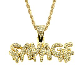 $enCountryForm.capitalKeyWord Australia - New Arrival Influx Designer Necklace Hip Hop Cuban Mens Necklace Luxury Diamond Letter Iced Out Pendant Exquisite Fashion Jewelry
