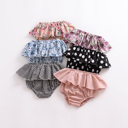 Baby Girl Ruffled Panties Australia - Kids Designer Clothes Pants Summer Cotton Baby Ballet Shorts Kids Polka Dot Shorts Pants Cover Ruffle Panties Baby PP Shorts Bloomers