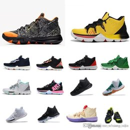 2395d16fed0 Mens kyrie basketball shoes Black White Yellow Galaxy Multi color Christmas  Green Youth Kids kyries irving low cuts sneakers boots with box