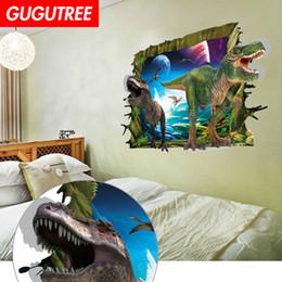$enCountryForm.capitalKeyWord Australia - Decorate home 3D dinosaur cartoon art wall sticker decoration Decals mural painting Removable Decor Wallpaper G-874