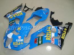 $enCountryForm.capitalKeyWord NZ - 3Gifts New ABS motorcycle bike Fairings Kits Fit For Suzuki GSXR1000 K3 K4 2003 2004 GSX-R1000 03 04 bodywork set nice blue RIZLA+