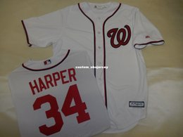 cheap cool base jerseys UK - Cheap custom BRYCE HARPER Sewn Cool Base JERSEY WHITE New Stitched Customize any name number MEN WOMEN BASEBALL JERSEY XS-5XL