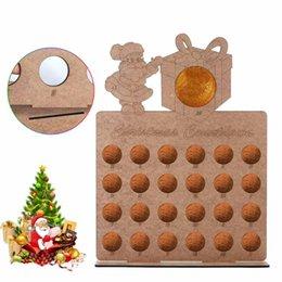 $enCountryForm.capitalKeyWord Australia - Wooden Hollow Out Christmas Advent Calendar 40*30cm Santa Claus Elk DIY New Year Xmas Countdown Home Decor Chocolate Displays
