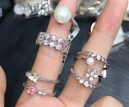 Zircon Rings Prices Australia - wholesale 10pcs lots low price high quality 925 silver diamond crystal zircon lady's ring mix size*style 3.9rhjt