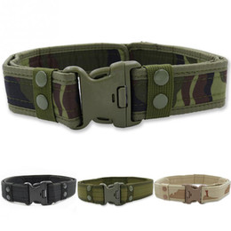 $enCountryForm.capitalKeyWord Australia - Tactical Canvas Belt Men Outdoor Army Practical Camouflage Waistband with Plastic Buckle Training Equipment