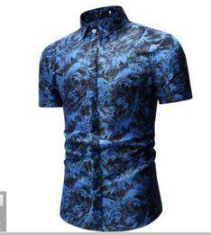 $enCountryForm.capitalKeyWord Australia - 2019 New type Men's Clothes Short-sleeved Shirts Printed coat Casual jacket polos singer tees Leisure Nightclub 3 colour large size M-3XL
