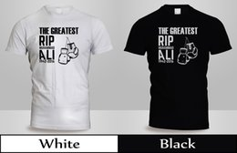 Ripped Black Tee Australia - MUHAMMAD ALI Shirt MUHAMMAD ALI RIP T-Shirt Mens Black&White BOXING GLOVE Tee 3