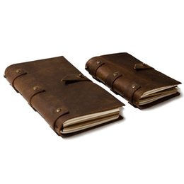 $enCountryForm.capitalKeyWord NZ - 2019 Leather Vintage Diary Notebook Journal Blank Cover String Hardcover Soft Copybook Genuine Leather Note Book Daily Planner