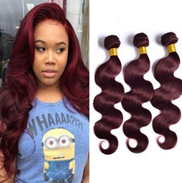 $enCountryForm.capitalKeyWord Australia - Brazilian Burgundy Virgin Hair 3 Bundles Color 99J Wine Red Body Wave 99j Hair Weft Weaves