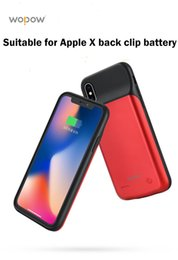 Back Audio Australia - WOPOW 3200mAh Power Bank Back Clip Battery Case For iPhone X External Backup Battery Charge With 3.5mm Audio jack listen music