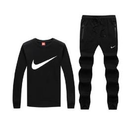 Wholesale couple sports suit for sale – designer 2019 men s tracksuit men sport suit men sweatshirt and pant suit hoodie and pant set sweatsuit men Couple suit