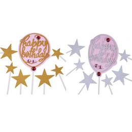 $enCountryForm.capitalKeyWord Australia - Rhinestone Balloon Cupcake Toppers Wedding Dress Bride To Be Cake Topper For Wedding Bridal Shower Birthday Party Decorations