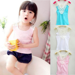 $enCountryForm.capitalKeyWord Australia - Kids Girls Crochet Hollow Out Floral T-Shirt Tee Shirts Vest Candy Color 0-3Y