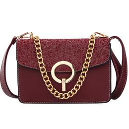 Ladies Side Handbags Australia - MINI side bags for women Sequin Chain Bag Flap Bag Ladies Messenger Bags Female Luxury Design Handbag Bolsa Feminina sac a main