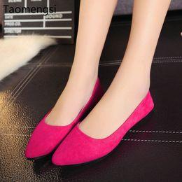 $enCountryForm.capitalKeyWord Australia - Taomengsi New fashionable pointed flat bottom, shallow suede, multi-color lady's single ladle shoes wholesale