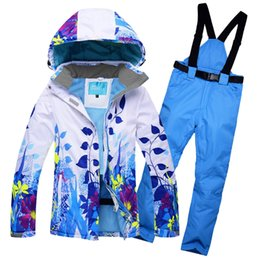 $enCountryForm.capitalKeyWord Australia - New Women Ski Suit Windproof Waterproof Snowboard Outdoor Sport Wear Skiing Jacket+Pants Camping Riding Super Warm Clothing Set