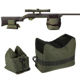 Rifles snipeR gun online shopping - Rifle Sandbag Rest Sniper Hunting Stand Bag Shooting Pouch Hunting Gun Accessories Tatical Front Rear Bag Support