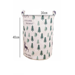 $enCountryForm.capitalKeyWord Canada - Fashion Canvas Laundry Basket Storage Bucket for Dirty Clothes Waterproof Folding Toys Sundries Organizer Storage Basket ZJ0687