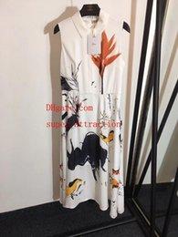 $enCountryForm.capitalKeyWord NZ - Brand woman summer dresses women jumpsuits rompers New ink painting lapel print sleeveless vest dress Silk lining vestidos women clothes