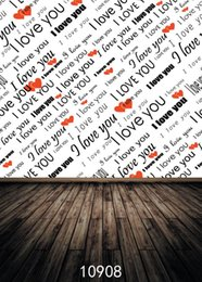 Discount custom photography prop - SHENGYONGBAO Art Cloth Custom Photography Backdrops Prop Valentine's day Theme Photography Background 10908