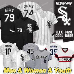 c5b6ac269 Chicago New White Sox Jersey Jon Jay Eloy Jimenez Frank Thomas Yoan Moncada Cool  Base Baseball Jerseys