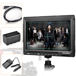 """Car Lights Australia - Freeshipping 7"""" 1280x800 HD IPS Panel LCD DSLR Field Monitor HDMI Input for BMPCC + HDMI Cable + Battery + Car Charger"""