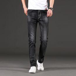 Wholesale mens jeans 46 for sale – denim Mens Jeans Casual Style Cotton blend Slight Stretch Washed Skinny Jeans Men Pants Plus Size Asian Size