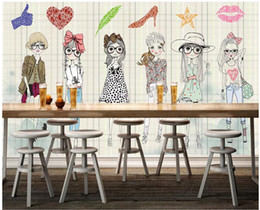 $enCountryForm.capitalKeyWord Australia - WDBH 3d wallpaper custom photo mural Cute cartoon girl tooling tv background living room home decor 3d wall murals wallpaper for walls 3 d