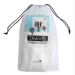 Pack Supplies Australia - Travel Storage Drawstring Bags Small Waterproof Harness Pocket Transparent Clothing Underwear Bag 5 Per Pack Wash Supplies Pouch