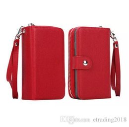 Zipper For Case Australia - For iPhone X 67 8 10 Detachable Leather Wallet Case Zipper Purse Pouch Flip Card Back Phone Cover