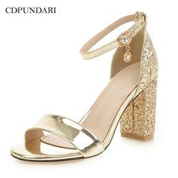 $enCountryForm.capitalKeyWord Australia - Cdpundari Gold Silver Ladies Big Size High Heel Sandals Women Summer Shoes Woman Chaussures Femme Ete 2018 Sandalias Mujer Y19070503