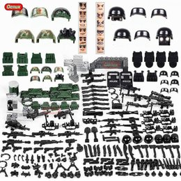 $enCountryForm.capitalKeyWord Australia - Oenux 12PCS City Policeman Figures With Weapons Model Building Block Brick Modern SWAT Police Soldiers Assembling Brick Boys Toy SH190910