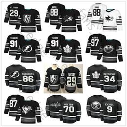 a7c412656 2019 All-Star 91 Steven Stamkos 86 Nikita Kucherov 88 Patrick Kane Pastrnak  9 Jack Eichel Erik Karlsson 70 Braden Holtby Black Hockey Jersey