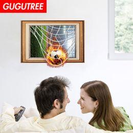 $enCountryForm.capitalKeyWord Australia - Decorate home 3D football cartoon art wall sticker decoration Decals mural painting Removable Decor Wallpaper G-958