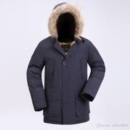 1cf7fdabcbe8 Fashion Wool rich Classic Brand Men Arctic Anorak Down jackets Man Winter  white goose down 90% Outdoor Thick Parka Coat Mens warm outwear