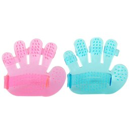 dog glove hair brush Australia - Dog bathing palm type massage brush five fingers dog hair brush pet cleaning gloves pet supplies