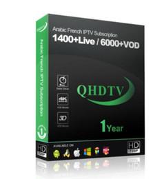Vente en gros QHDTV 1 an avec 1400 chaînes et plus Meilleur arabe et France