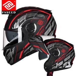 Discount modular helmets - FASEED Filp up Modular Motorcycle Helmet Racing Casco Moto Capacetes de Motociclista Dual Visors Motor Helmet
